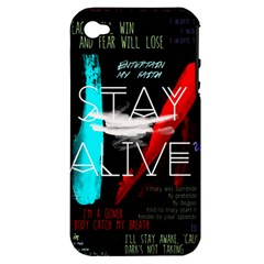 Twenty One Pilots Stay Alive Song Lyrics Quotes Apple Iphone 4/4s Hardshell Case (pc+silicone) by Onesevenart