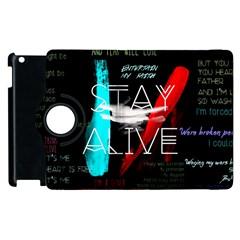 Twenty One Pilots Stay Alive Song Lyrics Quotes Apple Ipad 3/4 Flip 360 Case by Onesevenart