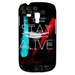 Twenty One Pilots Stay Alive Song Lyrics Quotes Galaxy S3 Mini by Onesevenart