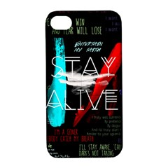 Twenty One Pilots Stay Alive Song Lyrics Quotes Apple Iphone 4/4s Hardshell Case With Stand by Onesevenart