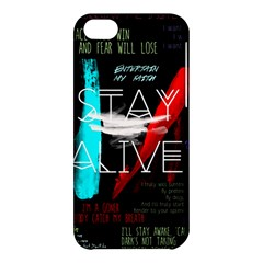 Twenty One Pilots Stay Alive Song Lyrics Quotes Apple Iphone 5c Hardshell Case by Onesevenart