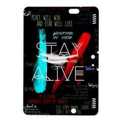 Twenty One Pilots Stay Alive Song Lyrics Quotes Kindle Fire Hdx 8 9  Hardshell Case by Onesevenart