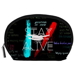 Twenty One Pilots Stay Alive Song Lyrics Quotes Accessory Pouches (large)  by Onesevenart