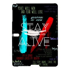 Twenty One Pilots Stay Alive Song Lyrics Quotes Samsung Galaxy Tab S (10 5 ) Hardshell Case  by Onesevenart