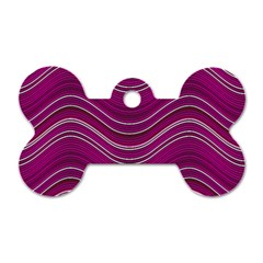 Abstraction Dog Tag Bone (two Sides) by Valentinaart
