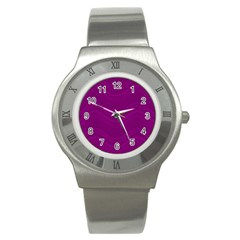 Abstraction Stainless Steel Watch by Valentinaart