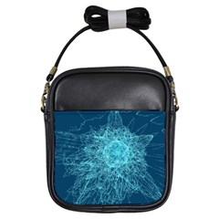 Shattered Glass Girls Sling Bags by linceazul