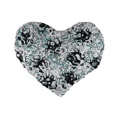 Abstraction Standard 16  Premium Flano Heart Shape Cushions by Valentinaart