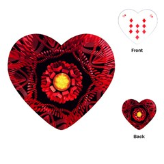 The Sun Is The Center Playing Cards (heart)  by linceazul