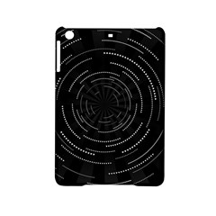 Abstract Black White Geometric Arcs Triangles Wicker Structural Texture Hole Circle Ipad Mini 2 Hardshell Cases by Mariart