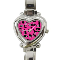 Car Plan Pinkcover Outside Heart Italian Charm Watch by Mariart