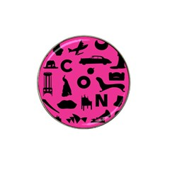 Car Plan Pinkcover Outside Hat Clip Ball Marker by Mariart