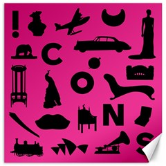 Car Plan Pinkcover Outside Canvas 12  X 12   by Mariart