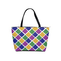 African Illutrations Plaid Color Rainbow Blue Green Yellow Purple White Line Chevron Wave Polkadot Shoulder Handbags by Mariart