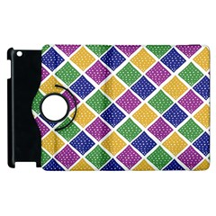 African Illutrations Plaid Color Rainbow Blue Green Yellow Purple White Line Chevron Wave Polkadot Apple Ipad 3/4 Flip 360 Case by Mariart