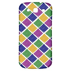 African Illutrations Plaid Color Rainbow Blue Green Yellow Purple White Line Chevron Wave Polkadot Samsung Galaxy S3 S Iii Classic Hardshell Back Case by Mariart