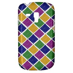 African Illutrations Plaid Color Rainbow Blue Green Yellow Purple White Line Chevron Wave Polkadot Galaxy S3 Mini by Mariart