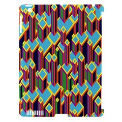 Building City Plaid Chevron Wave Blue Green Apple Ipad 3/4 Hardshell Case (compatible With Smart Cover) by Mariart