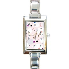 Cheers Polkadot Circle Color Rainbow Rectangle Italian Charm Watch by Mariart