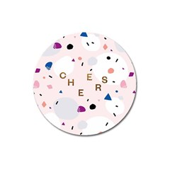 Cheers Polkadot Circle Color Rainbow Magnet 3  (round) by Mariart