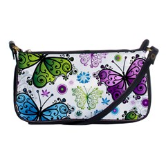 Butterfly Animals Fly Purple Green Blue Polkadot Flower Floral Star Shoulder Clutch Bags by Mariart