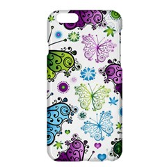 Butterfly Animals Fly Purple Green Blue Polkadot Flower Floral Star Apple Iphone 6 Plus/6s Plus Hardshell Case by Mariart