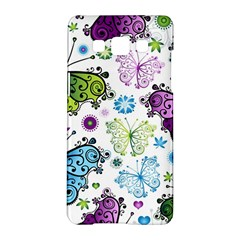 Butterfly Animals Fly Purple Green Blue Polkadot Flower Floral Star Samsung Galaxy A5 Hardshell Case  by Mariart