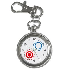 Color Light Effect Control Mode Circle Red Blue Key Chain Watches by Mariart