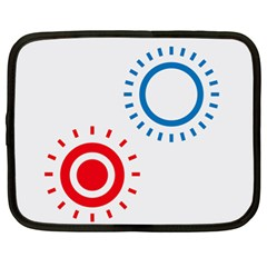 Color Light Effect Control Mode Circle Red Blue Netbook Case (xl)  by Mariart