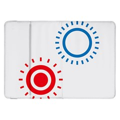 Color Light Effect Control Mode Circle Red Blue Samsung Galaxy Tab 8 9  P7300 Flip Case by Mariart