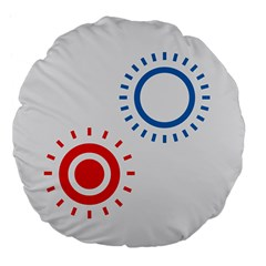 Color Light Effect Control Mode Circle Red Blue Large 18  Premium Flano Round Cushions by Mariart