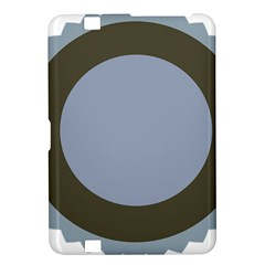 Circle Round Grey Blue Kindle Fire Hd 8 9  by Mariart