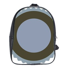 Circle Round Grey Blue School Bags (xl)  by Mariart