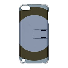 Circle Round Grey Blue Apple Ipod Touch 5 Hardshell Case With Stand by Mariart