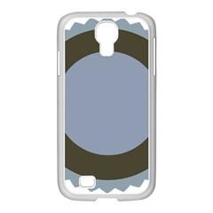 Circle Round Grey Blue Samsung Galaxy S4 I9500/ I9505 Case (white) by Mariart