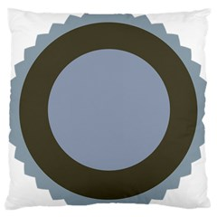 Circle Round Grey Blue Standard Flano Cushion Case (one Side) by Mariart