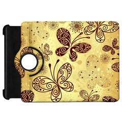 Butterfly Animals Fly Purple Gold Polkadot Flower Floral Star Sunflower Kindle Fire Hd 7  by Mariart