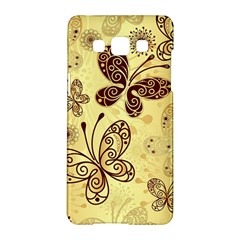 Butterfly Animals Fly Purple Gold Polkadot Flower Floral Star Sunflower Samsung Galaxy A5 Hardshell Case  by Mariart