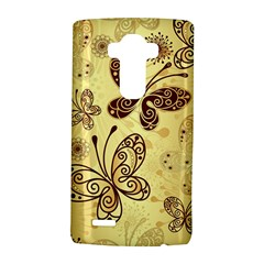 Butterfly Animals Fly Purple Gold Polkadot Flower Floral Star Sunflower Lg G4 Hardshell Case by Mariart