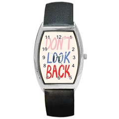 Don t Look Back Big Eye Pink Red Blue Sexy Barrel Style Metal Watch by Mariart