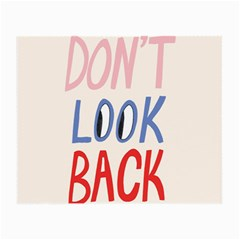 Don t Look Back Big Eye Pink Red Blue Sexy Small Glasses Cloth (2 Side) by Mariart