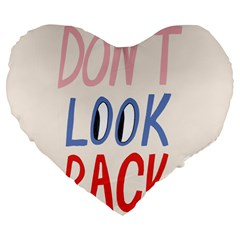 Don t Look Back Big Eye Pink Red Blue Sexy Large 19  Premium Flano Heart Shape Cushions by Mariart