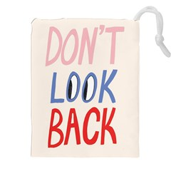 Don t Look Back Big Eye Pink Red Blue Sexy Drawstring Pouches (xxl) by Mariart