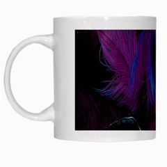 Feathers Quill Pink Black Blue White Mugs by Mariart