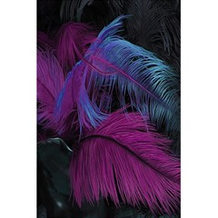 Feathers Quill Pink Black Blue 5 5  X 8 5  Notebooks by Mariart