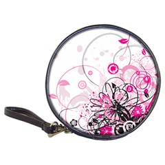 Wreaths Frame Flower Floral Pink Black Classic 20 Cd Wallets by Mariart