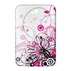 Wreaths Frame Flower Floral Pink Black Samsung Galaxy Note 8 0 N5100 Hardshell Case  by Mariart