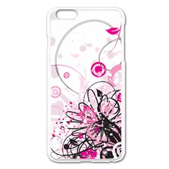 Wreaths Frame Flower Floral Pink Black Apple Iphone 6 Plus/6s Plus Enamel White Case by Mariart