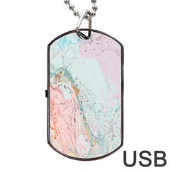 Geode Crystal Pink Blue Dog Tag Usb Flash (one Side) by Mariart