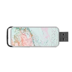 Geode Crystal Pink Blue Portable Usb Flash (two Sides) by Mariart